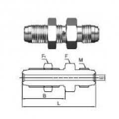 UHP GAS FITTING,SUS 가스피팅,METAL FACE SEAL FITTING, S4BH(벌크헤드)